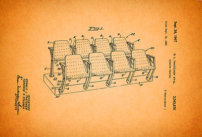 Stadiums Drawing - Stadium Seating Patent 1965 by Mountain Dreams