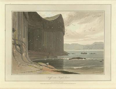 Staffa Coastline Near Fingal's Cave Print by British Library