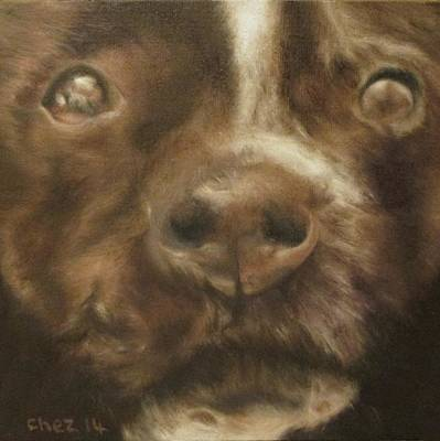 Staffie Print by Cherise Foster