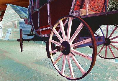 Western Themed Photograph - Stage Coach 1 by Kae Cheatham