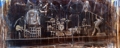 Pearl Jam Painting - Stage by Josh Hertzenberg