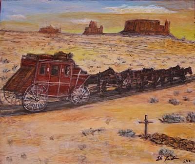 Southwest Stagecoach Original by Larry Lamb