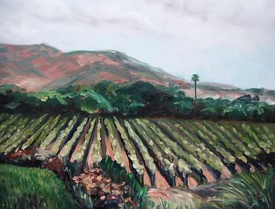 Winery Painting - Stag's Leap Vineyard by Donna Tuten