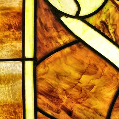 2 Faces Photograph - Stained Glass 2 by Tom Druin