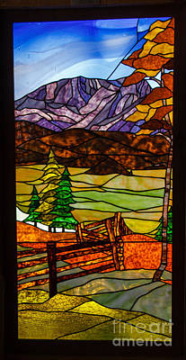 Stained-glass-beauty Print by Robert Bales
