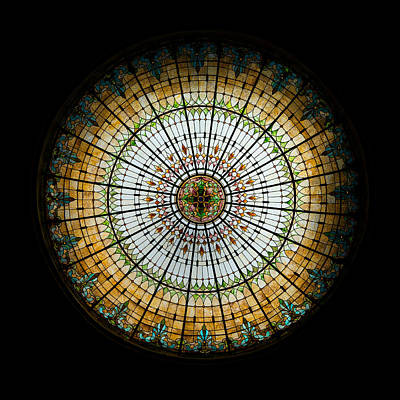Stained Glass Dome - 2 Print by Stephen Stookey