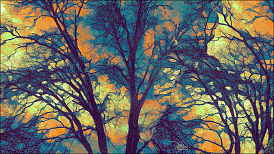 Stained Glass Forest No. 6 Print by Douglas MooreZart