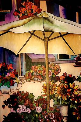 Stained Glass Italy Print by Paulette Thomas