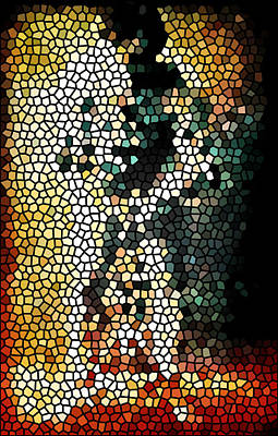 Stained Glass Mosaic 1  Print by The  Vault - Jennifer Rondinelli Reilly