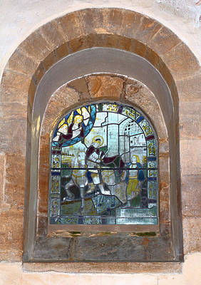 Sutton Photograph - Stained Glass Window All Saints Church by Rumyana Whitcher