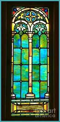 Stained Glass Window Cape May Nj Print by Becky Lupe