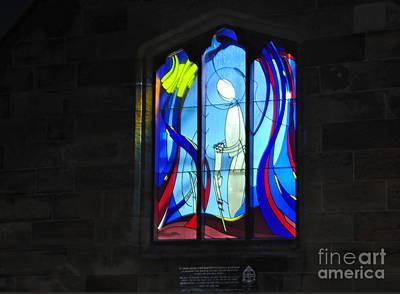 Stained Glass Window Print by Kaye Menner