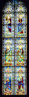 Stained Glass Window Of Duomo Santa Maria Del Fiore Print by Irina Sztukowski