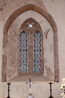 Sutton Photograph - Stained Glass Window With Frescoes by Rumyana Whitcher