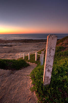 Stairs To Dusk Print by Peter Tellone