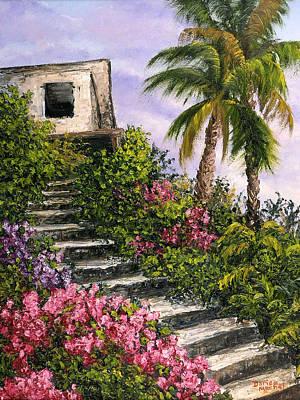 Stairway Garden Print by Darice Machel McGuire