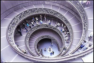 Stairway In Vatican Museum Print by Stefano Senise