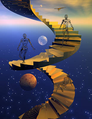 Fantasy World Digital Art - Stairway To Imagination by Claude McCoy