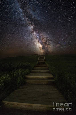 Stairway To The Galaxy Print by Aaron J Groen