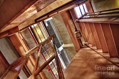 Alcatraz Photograph - Stairwell by Andrew Brooks