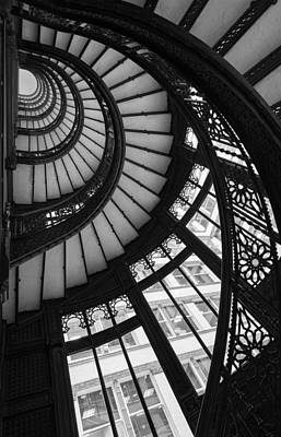 Historic Chicago Photograph - Stairwell The Rookery Chicago Il by Steve Gadomski