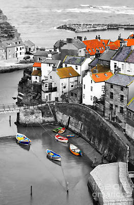 Staithes Print by Louise Heusinkveld