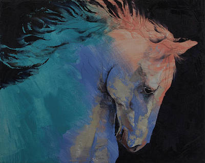 Impasto Oil Painting - Stallion by Michael Creese