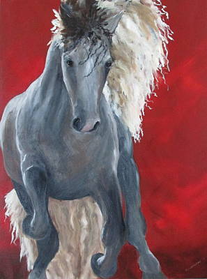 Susan L Richardson Art Painting - Stallion by Susan Richardson