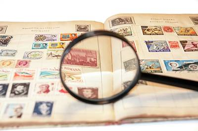 Romania Photograph - Stamp Collecting Hobby by Photostock-israel