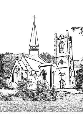 Stamp Of Churches Print by Vicky  Hutton