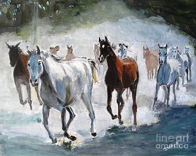 Dust Painting - Stampede by Judy Kay