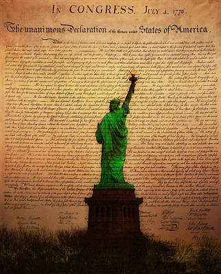 Statue Of Liberty Photograph - Stand Up For Freedom by Bill Cannon