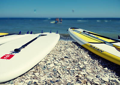 Surf Photograph - Stand Up Paddle Boards by Stelios Kleanthous