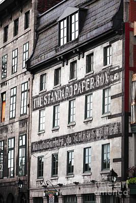 Old Montreal Photograph - Standard Paper by John Rizzuto