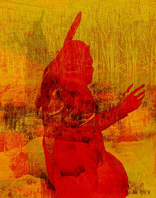 Standing Bear Park Abstract Collage Print by Ann Powell