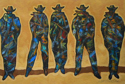 Cowgirls Painting - Standing In The Shadow by Lance Headlee