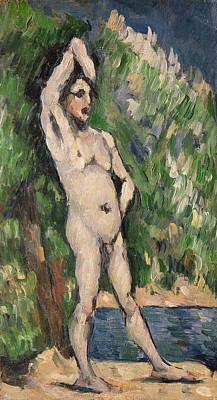 Homo-erotic Painting - Standing Nude by Paul Cezanne