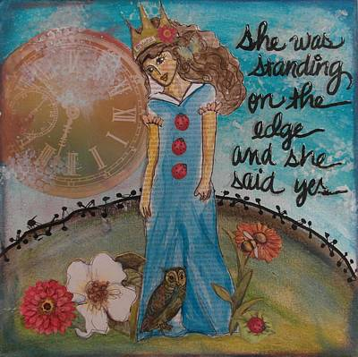 Etc Mixed Media - Standing On The Edge Of Destiny by Debbie Hornsby