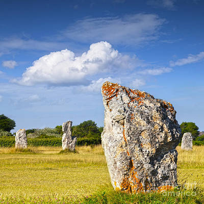 Standing Stones Lagatjar Camaret Sur Mer Brittany France Print by Colin and Linda McKie