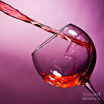 Red Wine Photograph - Standing Water by Matthew Trudeau