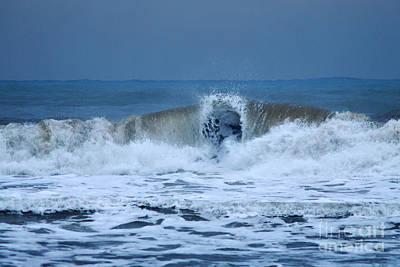 Dancing Of The Waves Print by Erhan OZBIYIK
