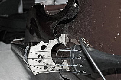 Standup Bass At Rest Print by Andy Crawford