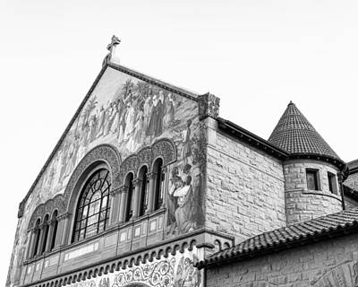 Stanford Photograph - Stanford Memorial Church In Black And White by Priya Ghose