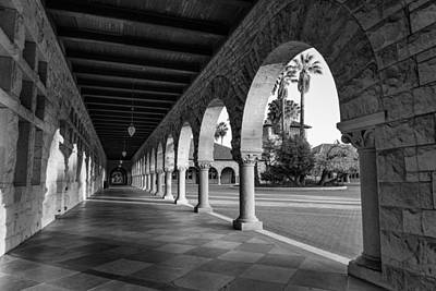 Stanford Photograph - Stanford University Columns In Black And White by Priya Ghose