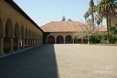 Stanford University Main Quad Palo Alto California Dsc624 Print by Wingsdomain Art and Photography