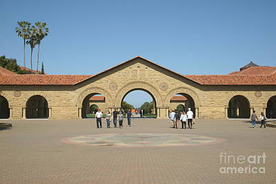 Stanford University Main Quad Palo Alto California Dsc632 Print by Wingsdomain Art and Photography