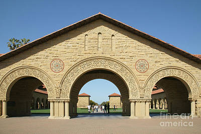 Stanford University Main Quad Palo Alto California Dsc684 Print by Wingsdomain Art and Photography