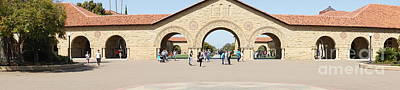 Stanford University Main Quad Palo Alto California Panorama Dsc681 Print by Wingsdomain Art and Photography