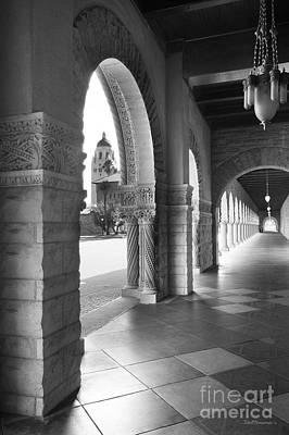 Stanford University Main Quad Walkway Print by University Icons