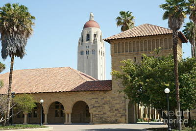 Stanford University Palo Alto California Hoover Tower Dsc639 Print by Wingsdomain Art and Photography
